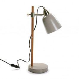 Sivá stolová lampa Versa Woodero