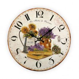 Nástenné hodiny Versa Flowers, 28 cm