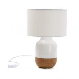 Biela porcelánová stolová lampa Versa Moderna