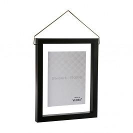 Čierny závesný fotorám VERSA, na fotografii 13×18cm