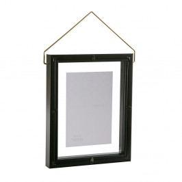 Čierny závesný fotorám VERSA, na fotografii 10×15cm