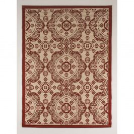 Červeno-béžový koberec vhodný do exteriéru Casa Sisall, 240×70 cm