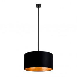 Čierne stropné svietidlo s vnútrajškom v zlatej farbe Sotto Luce Mika, ∅36 cm
