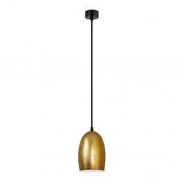 Závesné svietidlo v zlatej farbe s čiernym káblom Sotto Luce Ume