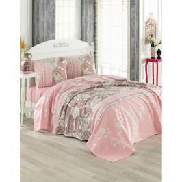 Bavlnený prikrývka cez posteľ na dvojposteľ Anneta, 200 x 230 cm
