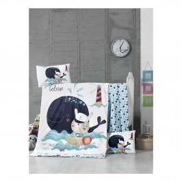 Set bavlnenej detskej obliečky s plachtou On The Sea, 100 × 150 cm