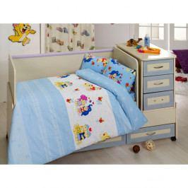 Set bavlnenej detskej obliečky s plachtou Blue Dreams, 100 × 150 cm