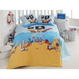 Set bavlnenej detskej obliečky s plachtou Treasure Island, 100 × 150 cm