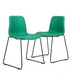 Sada 2 zelených stoličiek Garageeight Forett U