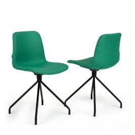 Sada 2 zelených stoličiek Garageeight Forett X