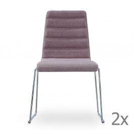 Sada 2 sivohnedých stoličiek Garageeight Ljungs