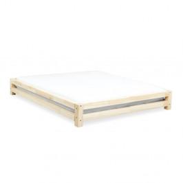 Dvojlôžková posteľ z lakovaného smrekového dreva Benlemi JAPA, 200 × 200 cm