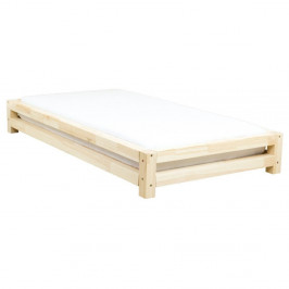 Detská posteľ zo smrekového dreva Benlemi JAPA Natural, 80 × 160 cm