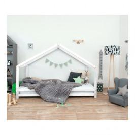 Biela detská posteľ z lakovaného smrekového dreva Benlemi Sidy, 90 × 180 cm