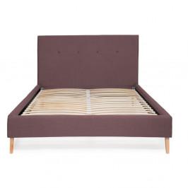 Fialová posteľ Vivonita Kent Linen, 200 × 140 cm