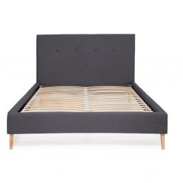 Tmavomodrá posteľ Vivonita Kent Linen, 200 × 140 cm