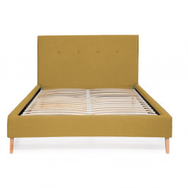 Kukuričnežltá posteľ Vivonita Kent Linen, 200 × 140 cm