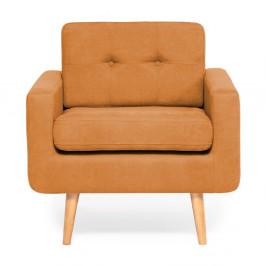Oranžové kreslo Vivonita Ina