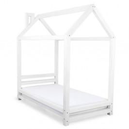 Detská biela posteľ zo smrekového dreva Benlemi Happy, 120×200 cm