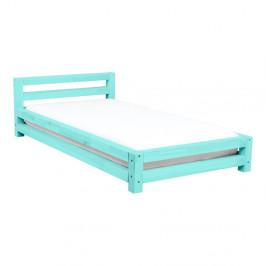 Tyrkysová jednolôžková posteľ zo smrekového dreva Benlemi Single, 120 × 200 cm
