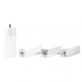 Sada 4 bielych predĺžených nôh zo smrekového dreva k posteli Benlemi, výška 20 cm