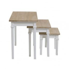 Sada 3 stolíkov z dreva Pawlonia Santiago Pons