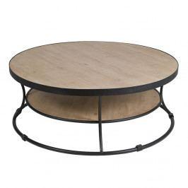 Konferenčný stolík z laminovaného smrekového dreva a železa Santiago Pons Curve