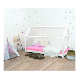 Biela detská posteľ bez bočníc zo smrekového dreva Benlemi Tery, 90×200 cm