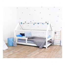 Biela detská posteľ s bočnicami zo smrekového dreva Benlemi Tery, 90×200 cm