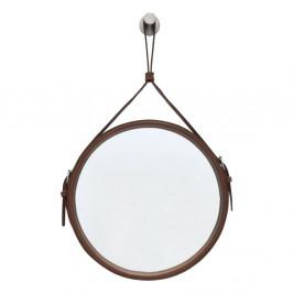 Závesné zrkadlo v hnedom ráme RGE Elvis, ø 60 cm
