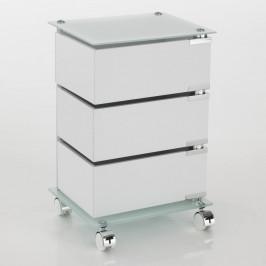 Biely pojazdný vozík s 3 zásuvkami Tomasucci Bobo