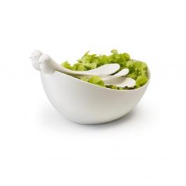 Biela misa s nástrojmi Qualy Sparrow Salad Bowl