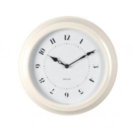 Krémové nástenné hodiny Karlsson Fifties, priemer 30cm
