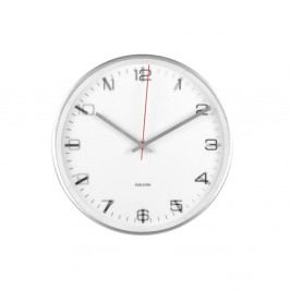 Biele nástenné hodiny ETH Hologram