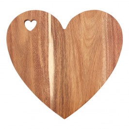 Doska v tvare srdca z akáciového dreva s ružovým okrajom Premier Housewares, 30×28 cm