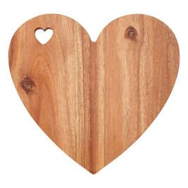 Doska v tvare srdca z akáciového dreva s bielym okrajom Premier Housewares, 30×28 cm