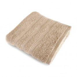 Svetlohnedý uterák z česanej bavlny Irya Home Classic, 50×90 cm