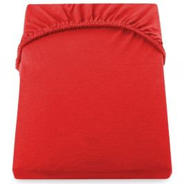 Červená elastická plachta z mikrovlákna DecoKing Amber Collection, 160-180×200 cm