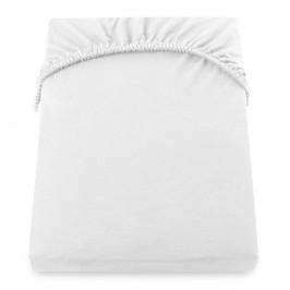Biela elastická plachta DecoKing Amber Collection, 160-180×200 cm