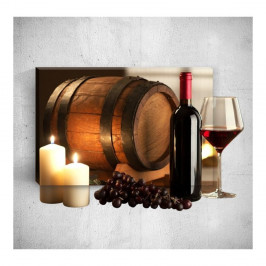 Nástenný 3D obraz Mosticx Wine Barrel, 40×60 cm