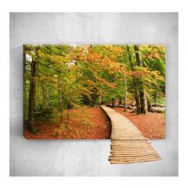 Nástenný 3D obraz Mosticx Wood Way, 40×60 cm