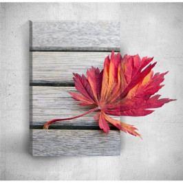 Nástenný 3D obraz Mosticx Red Leaf, 40×60 cm