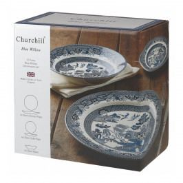 Sada 12 tanierov Churchill China Blu Willow