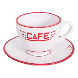 Biely keramický hrnček Antic Line Café
