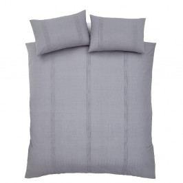 Sivé obliečky na paplón a vankúš Catherine Lansfield, 200×200 cm