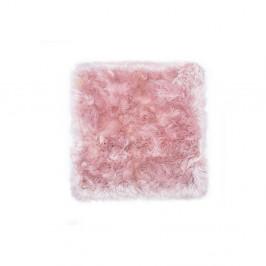 Ružový koberec z ovčej kožušiny Royal Dream Zealand, 70 x 70 cm