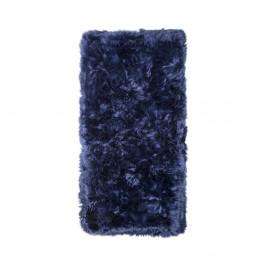 Tmavomodrý koberec z ovčej kožušiny Royal Dream Zealand, 140 x 70 cm
