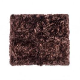 Tmavohnedý koberec z ovčej kožušiny Royal Dream Zealand, 130 x 150 cm