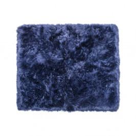Tmavomodrý koberec z ovčej kožušiny Royal Dream Zealand, 130 x 150 cm