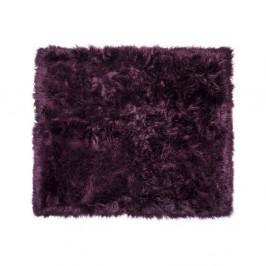 Tmavovínový koberec z ovčej kožušiny Royal Dream Zealand, 130 x 150 cm
